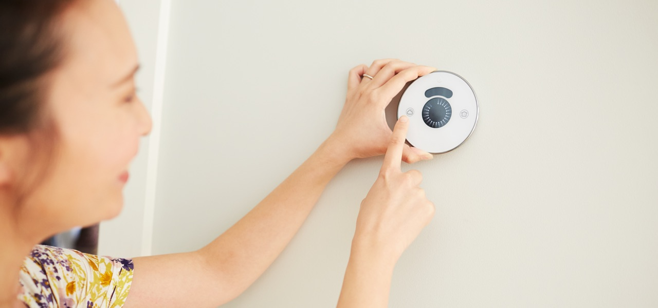 Save on heating and cooling costs with a smart thermostat.  Rebate may be available.