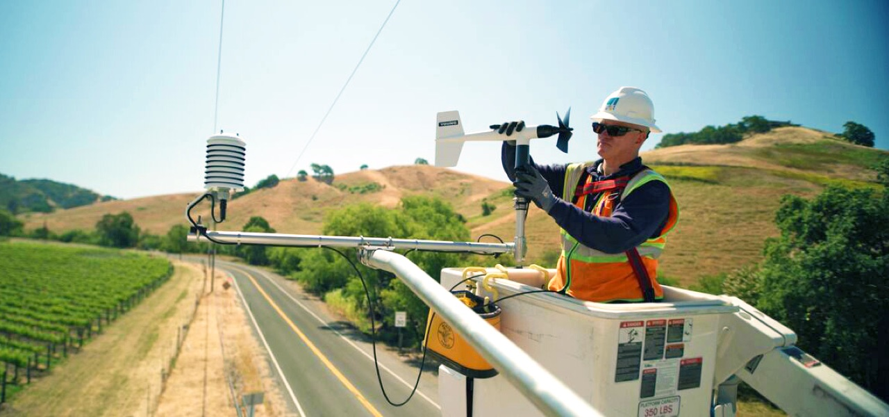 Real time and on the ground monitoring by PG&E and other national and local agencies